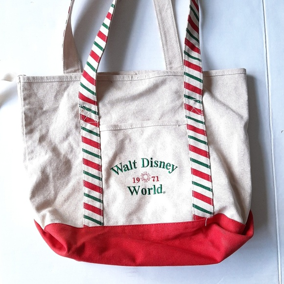 Disney Handbags - Walt Disney World 1971 Canvas Tote Bag Holiday